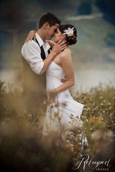 romantic bride and groom photo