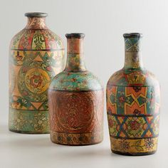 One of my favorite discoveries at WorldMarket.com: Recycled Terracotta Bottles #WorldMarketMakeover @Cost Plus World Market
