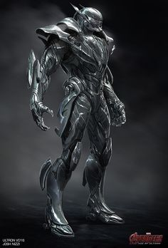Marvel Studios concept artist Josh Nizzi has revealed his incredible designs for Avengers: Age of Ultron featuring some vert cool and unusual alternate designs for Iron Man's Hulkbuster armour and Ultron. Robot Concept Art, Armor Concept, Fantasy Armor, Dark Fantasy Art, Fantasy Character Design, Character Art, Hulk Buster, Armadura Ninja, Arte Robot