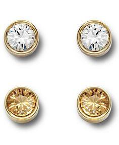 GOLD only --- Swarovski Earring Set, Harley Golden Shadow Pierced Earrings Set
