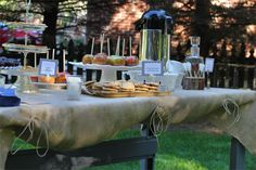 cute burlap table cloths, with twine tie downs