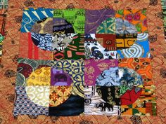 African Red Huts Lap Quilt by jennifermiller on Etsy, $350.00