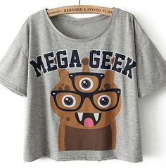 Tricou Geek Gri