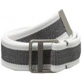 Calvin Klein Men's 38mm Cotton Webbing Strap With Rubber Center Belt White | http://www.cbuystore.com/page/viewProduct/9936006