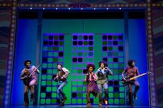 "Broadway Review: ""Motown: The Musical"" - Raymond Luke, Jr. as Michael Jackson with the Jackson 5. Photo © 2013 Joan Marcus"