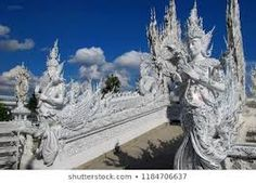 white temple guards - Google Search White Temple, Statue Of Liberty, Mount Rushmore, Mountains, Google Search, Nature, Travel, Outdoor, Statue Of Liberty Facts