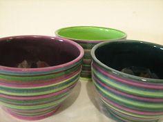 Hakuna matata Ceramica Artesanal: Cuencos altos con lineas. http://hakunamatataceramica.blogspot.com.ar/