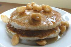 honey mac nut pancakes
