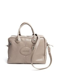 Longchamp Taupe Leather Leather 'Quadri' Convertible Shoulder Bag | Zoanne $500 http://www.zoanne.com/bags/Longchamp-Taupe-Leather-Leather-Quadri-Convertible-Shoulder-Bag
