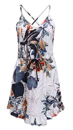Sheinside® Women's Spaghetti Strap Floral Ruffle Dress (M, Multi) Sheinside http://www.amazon.com/dp/B00ZQH4IA0/ref=cm_sw_r_pi_dp_CFAKvb1396JTC