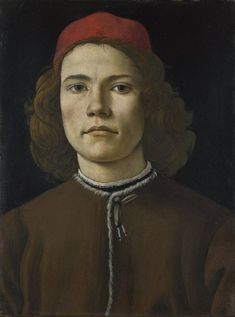 Sandro Botticelli. Portrait of a Young Man. 1480- 5.