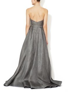 Silk Strapless Ball Gown by Reem Acra at Gilt
