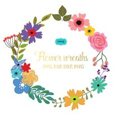 Flower wreaths svg, Monogram Frames SVG file. This listing for FRAME ONLY, it doesnt include font or lettering. The lettering included in pictures are for display only. Use for Scrapbook, Cardmaking, Handmade Stationery, Invitations, Place Cards, Tags, Wrapping Paper, Books and Journals Hardcovers, Jewelry, Cards, Decoupage, Decorated Furniture, Packaging, Crafts for Weddings, Birthdays, Parties and any DIY Project.    YOU WILL RECIEVE: --------------------------------------- 1 SVG file 1…