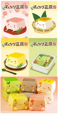 Diferent varieties of hannari tofu!