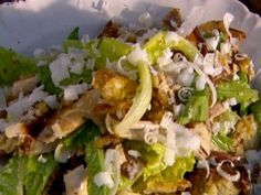 Proper Chicken Caesar Salad from FoodNetwork.com.  Much too elaborate for an every day thing, but a simpler version is good for an every day lunch.
