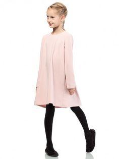 8d205de6cb59 Dječja haljina dugih rukava KIDIN - svjetlo ružičast