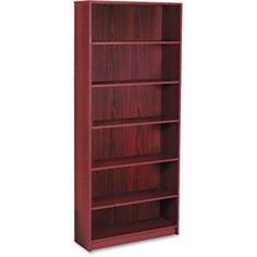 HON 1890 Series Bookcase, 6 Shelves, Brown