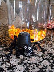 easy mini flower pot spiders