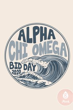 Geneologie | Bid Day | Alpha Chi Omega | Waves | Recruitment | Bid Day Theme Bid Day Themes, Alpha Chi Omega, Good Books, Waves, Printables, Design, Ocean Waves, Design Comics