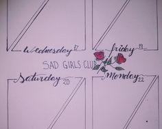bullet journal weekly planner sad girls club