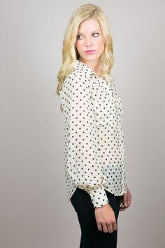 Perfect silk polka dot blouse