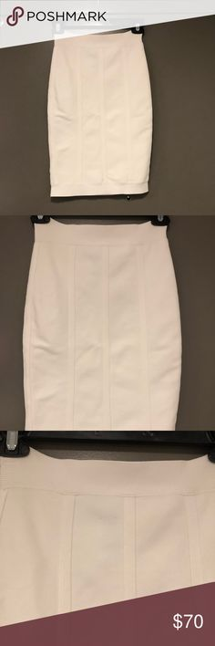 227922a5bf Shop Women's BCBGMaxAzria Cream size S Skirts at a discounted price at  Poshmark. Description: Midi length Hits above the knee.