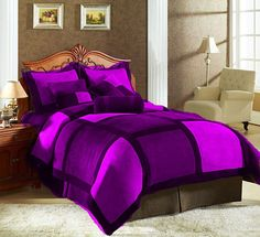 14'' 7 Pc Multicolor Square Style Twin Velvet Duvet Cover Set  Lpdpb Xmas .