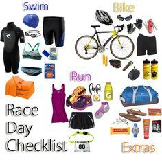 Triathlon Checklist, Sprint Triathlon Training, Triathlon Gear, Race Training, Half Marathon Training, Training Equipment, Triathlon Women, Ironman Triathlon Motivation, Training Programs