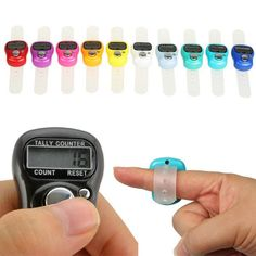 Mini Hand tally counter - Finger ring digital electronic head count ~ Japa counter