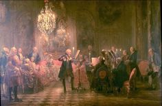 The Flute Concert - Adolph Menzel