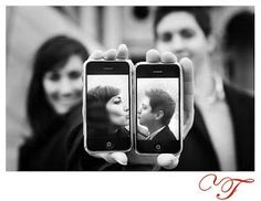 Cute ideas for couples pics. Take these yourself!