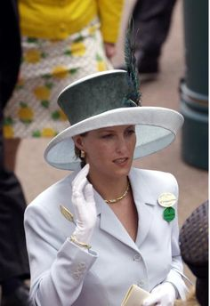 Sophie, Countess Of Wessex. I love Royal fashion; it's all gloves and hats!