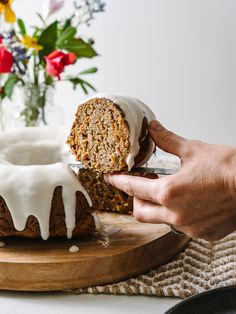 Gluten Free Carrot Cake Bundt Cake-- perfect for Easter brunch or dessert!