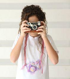 Picture perfect watercolor camera t-shirt :) @ILoveto Create #joannlove
