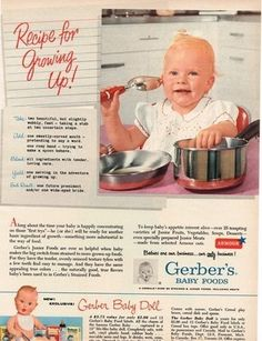 1955 Gerber Baby Food Ad