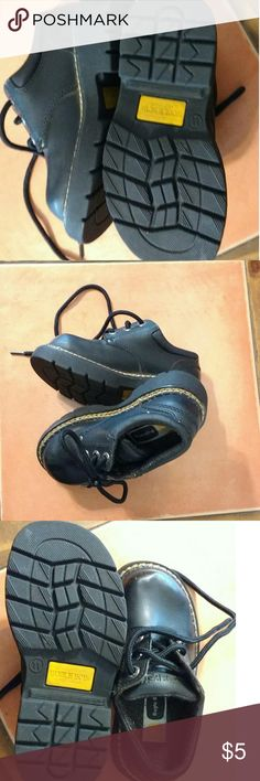 Bugle Boy kids shoes Kids Bugle Boy black casual shoes. Very sturdy. Minor scuff Mark pls see pictures. Nice gold colored stitches that go around the entire shoe. Bugle Boy Shoes Dress Shoes