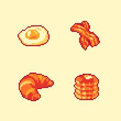 Pixel Art Food, Pixel Art Games, Pixel Drawing, 8 Bit Art, Pix Art, Pixel Art Templates, Retro Poster, Isometric Art, Pixel Pattern