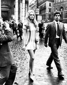Brigitte Bardot in Rome, 1960s.