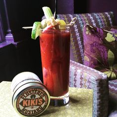 Is it too early for a Kiki's Flustered Mustard Bloody Mary? Nah! #kikisflusteredmustard #getflustered #bloodymary #flusteredmary #craftdrinks #eeeeeats #foodpic #forkyeah #libations #drinkup @kikisflusteredmustard #goodmorning #mouthhappy