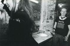 Cheetah Chrome and Gyda Gash in the CBGB washrooms photographed by Stephanie Chernikowski, 1978