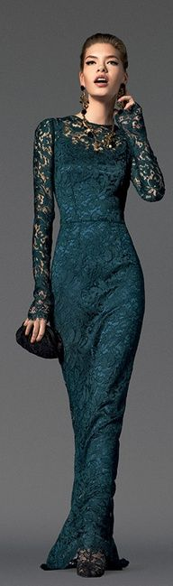 Teal lace evening gown-now I just need an event to wear it!