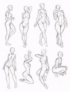 Poses, mujer, female, woman. Reference, bases.
