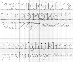 alphabet - broderie - embroidery - Point de croix - Blog : http://broderiemimie44.canalblog.com/