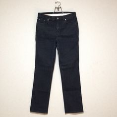 LAUREN JEANS CO. by Ralph Lauren Black Denim Pant Size 8