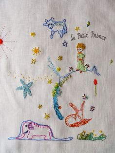 ♒ Enchanting Embroidery ♒ The little prince,embroidery stitch