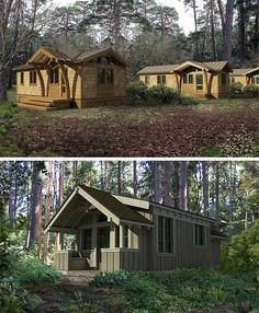 small-modular-homes-greenpods (but the neighbors are a wee bit too close in the first photo for me)