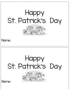 Print these free St.Patrick's Day Printable Emergent reader for your students or child. Practice sight words and reading with these easy books. March Book, Day Book, Teaching Time, Teaching Ideas, Kindergarten Activities, Preschool Projects, Kids Crafts, Speech Activities, Emergent Readers