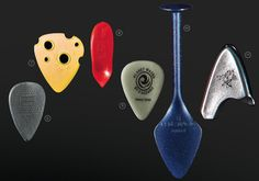 Dava Grip Tips Delrin Dunlop Tortex Awe-in-One Picks The SnakePick Planet Waves Black Ice