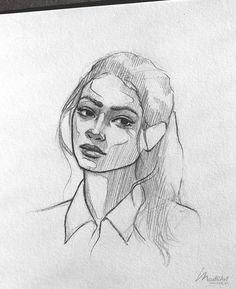My Sketchbook Art I draw Happy Dreamy Girls I sleep Cute Girl Sketch I . - My. Portrait Sketches, Art Drawings Sketches, Sketch Art, Blue Drawings, Face Sketch, Portrait Art, Cute Girl Sketch, Arte Sketchbook, Line Art