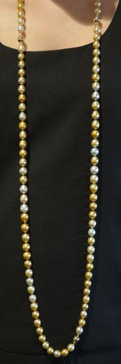 e11c90545 Introducing our beautiful Jewelmer Golden South Sea Pearl rope length  strand. Wear as a single